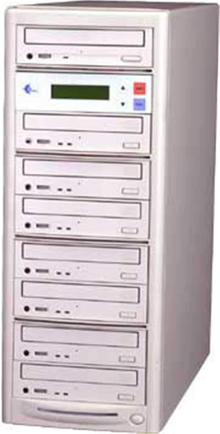 EZ-Dupe EZD7TCD 1 x 7 CD Duplicator - Beige - ProSound and Stage Lighting