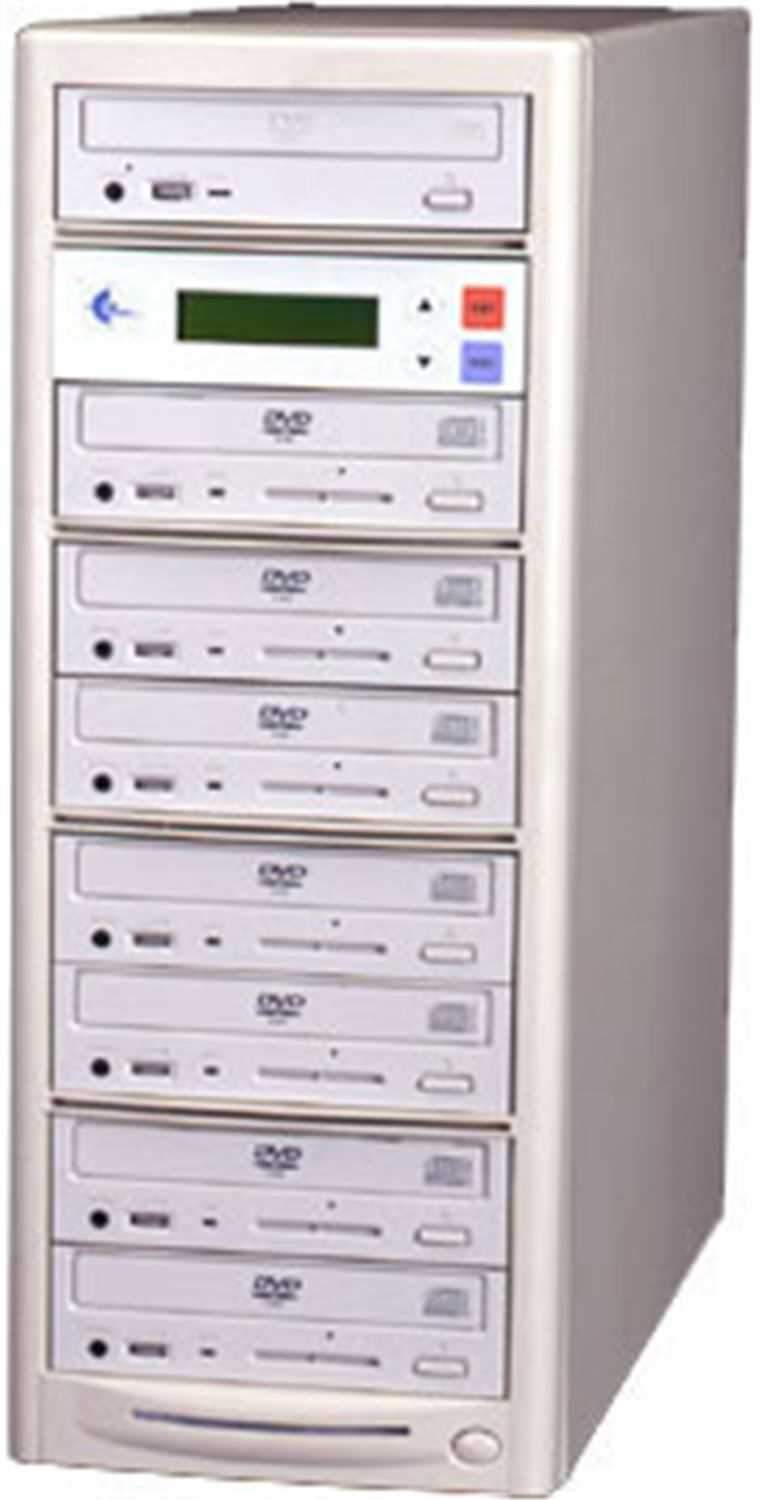 EZ-Dupe EZD7TDVD-PIO 1x7 DVD Duplicator - Beige - PSSL ProSound and Stage Lighting