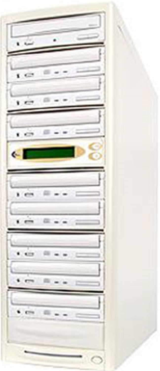 EZ-Dupe EZD8TDVD 1 x 8 DVD Duplicator - Beige - PSSL ProSound and Stage Lighting
