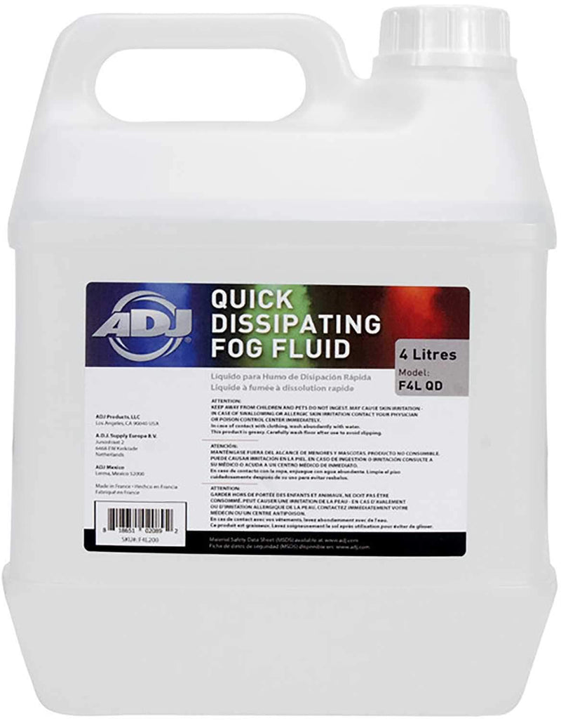 ADJ American DJ F4L QD CO2 Quick Dissipating Fog Fluid - PSSL ProSound and Stage Lighting