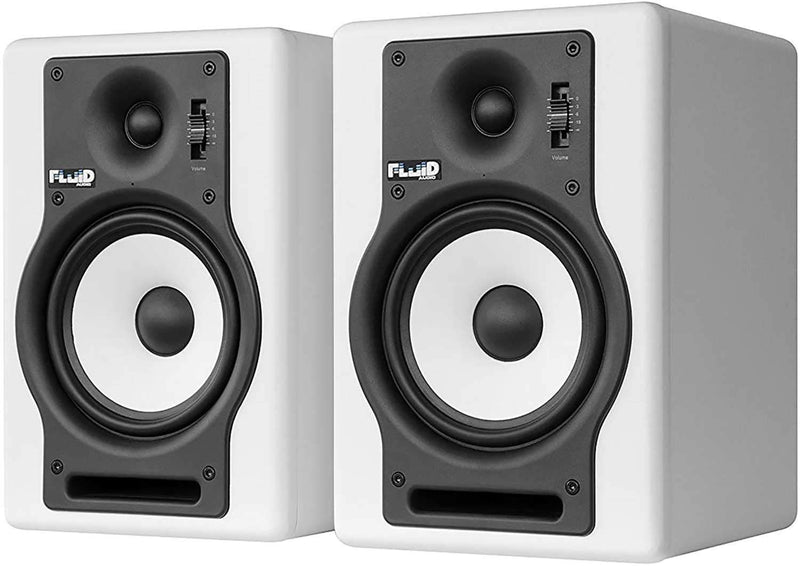 Fluid Audio F5W White Pair 5-inch Studio Monitor - PSSL ProSound and Stage Lighting