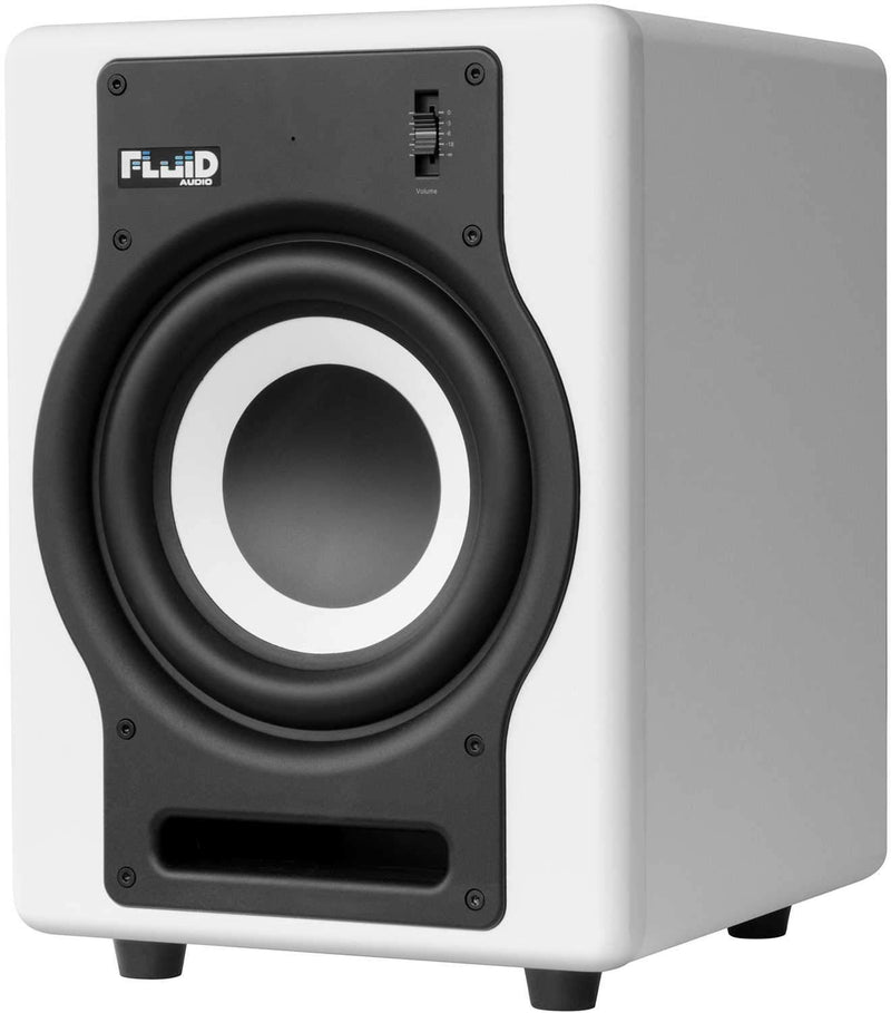 Fluid Audio F8SW 8-inch Powered Studio Sub White - ProSound and Stage Lighting