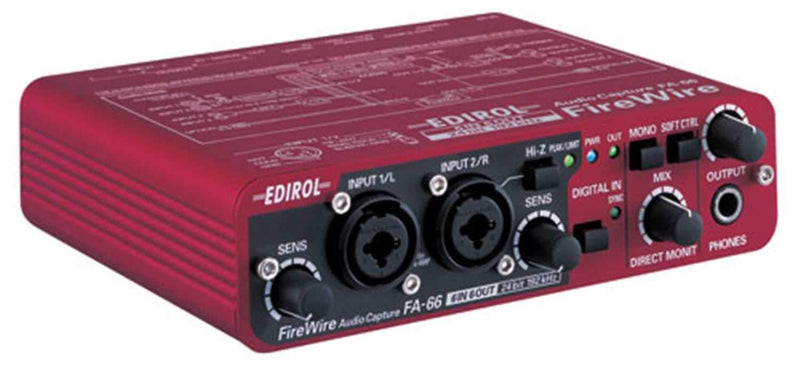 Edirol FA-66 6 Channel Portable Firewire Audio Int - PSSL ProSound and Stage Lighting