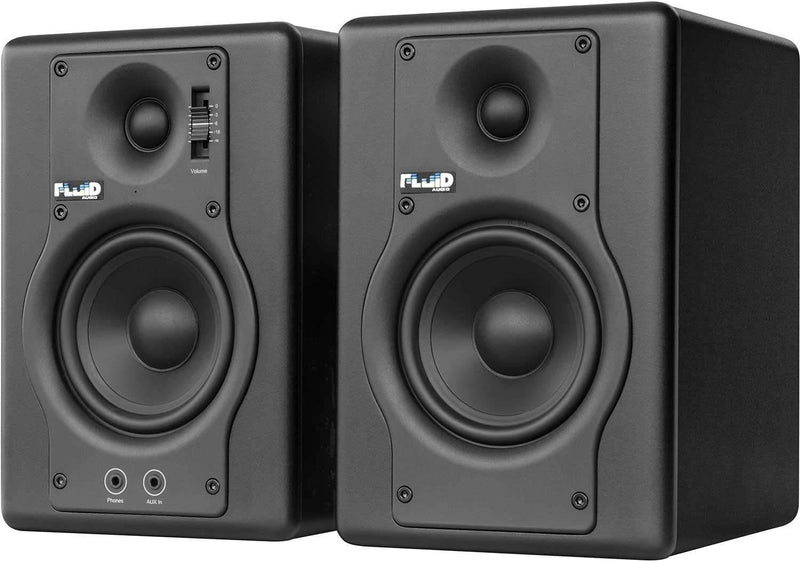 Fluid Audio F4 Pair 4-Inch Powered Studio Monitors - PSSL ProSound and Stage Lighting