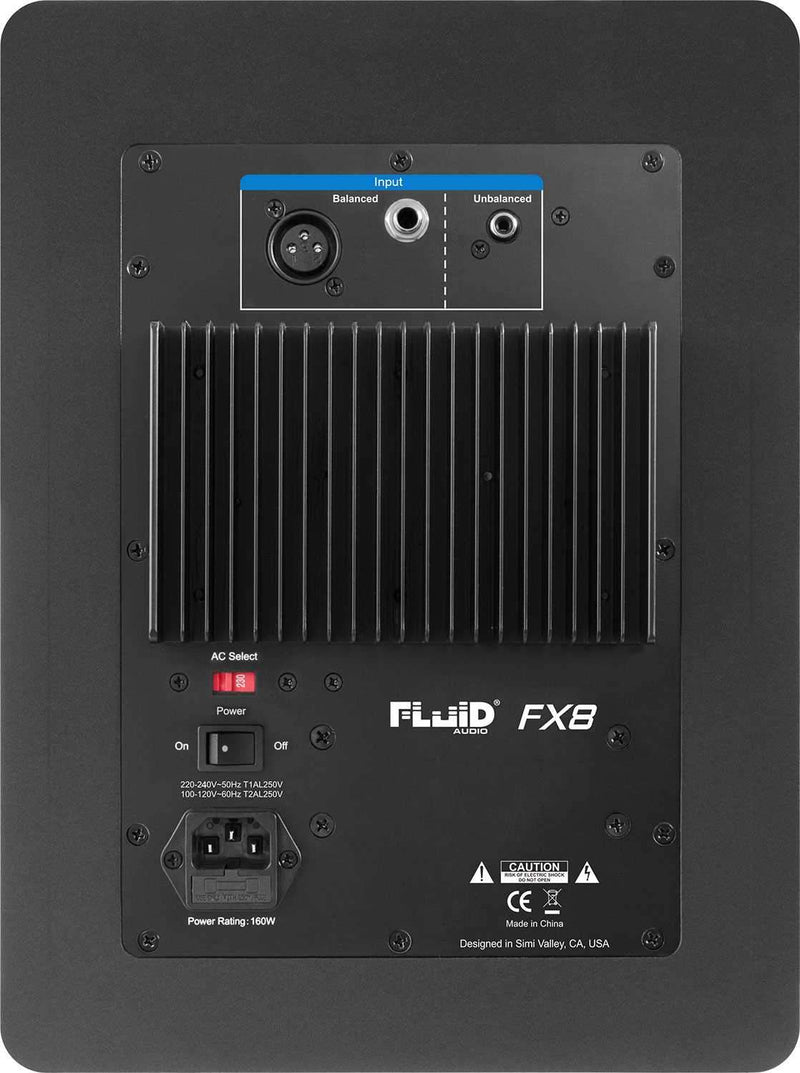 Fluid Audio FX8 8-Inch Powered Studio Monitor - PSSL ProSound and Stage Lighting