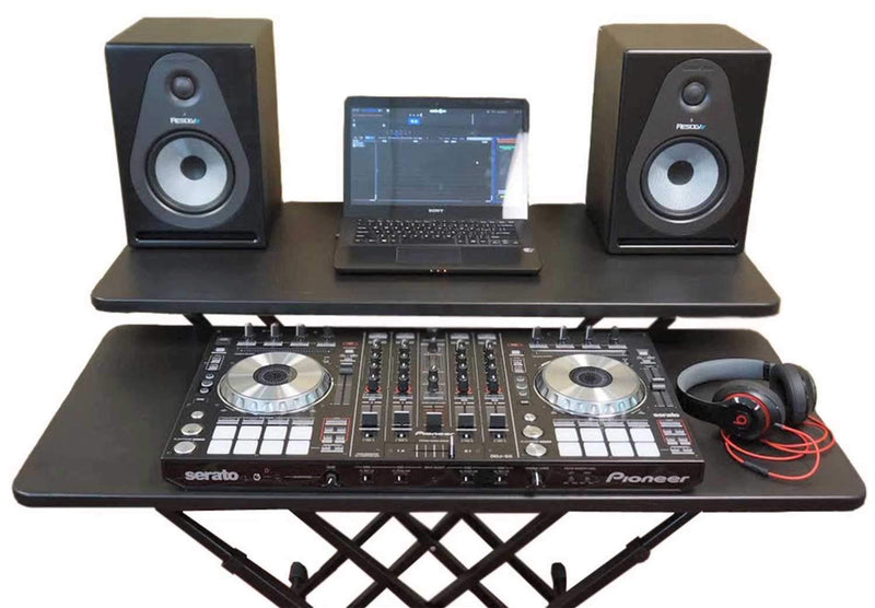 Fastset Adjustable Musician/DJ Utility Table - ProSound and Stage Lighting