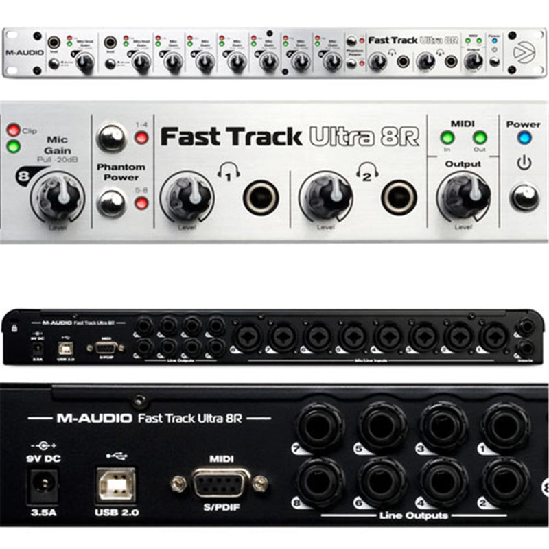 Avid FASTTRACKULTRA-8R USB Audio/Midi Interface - ProSound and Stage Lighting