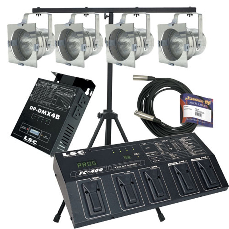 American DJ FC56 Par 56 Light Package with DP-DMX4B - PSSL ProSound and Stage Lighting