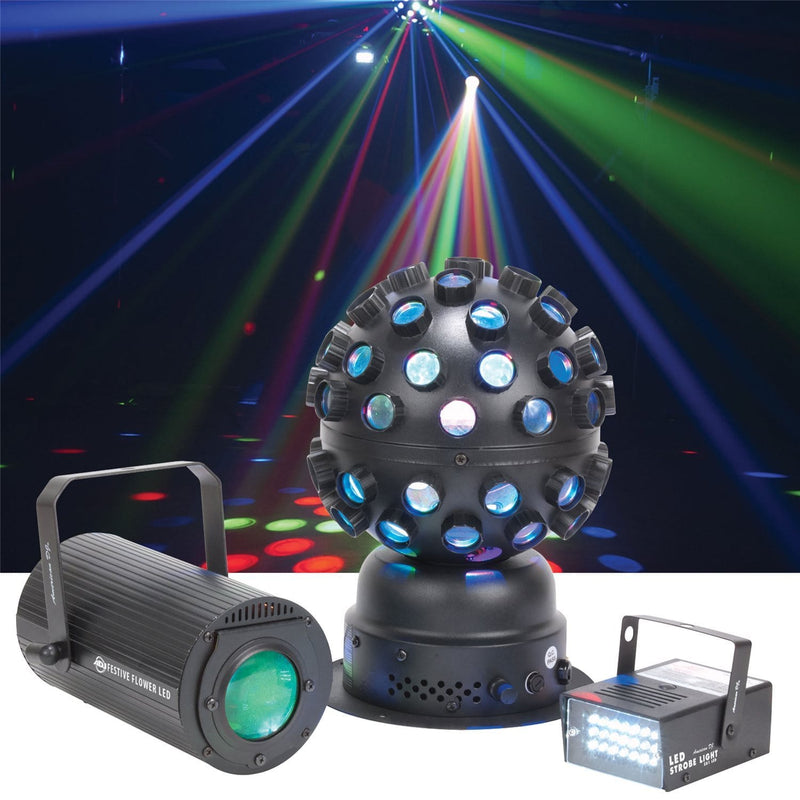 American DJ Festive LED 3-in-1 Lighting Package - PSSL ProSound and Stage Lighting