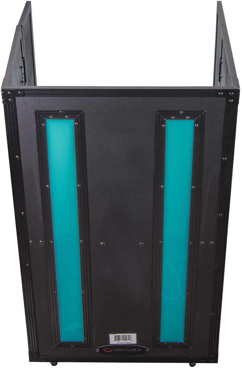 Odyssey FFX2F2136BL 21x36 Flight FX Fold-Out DJ Stand Facade - ProSound and Stage Lighting