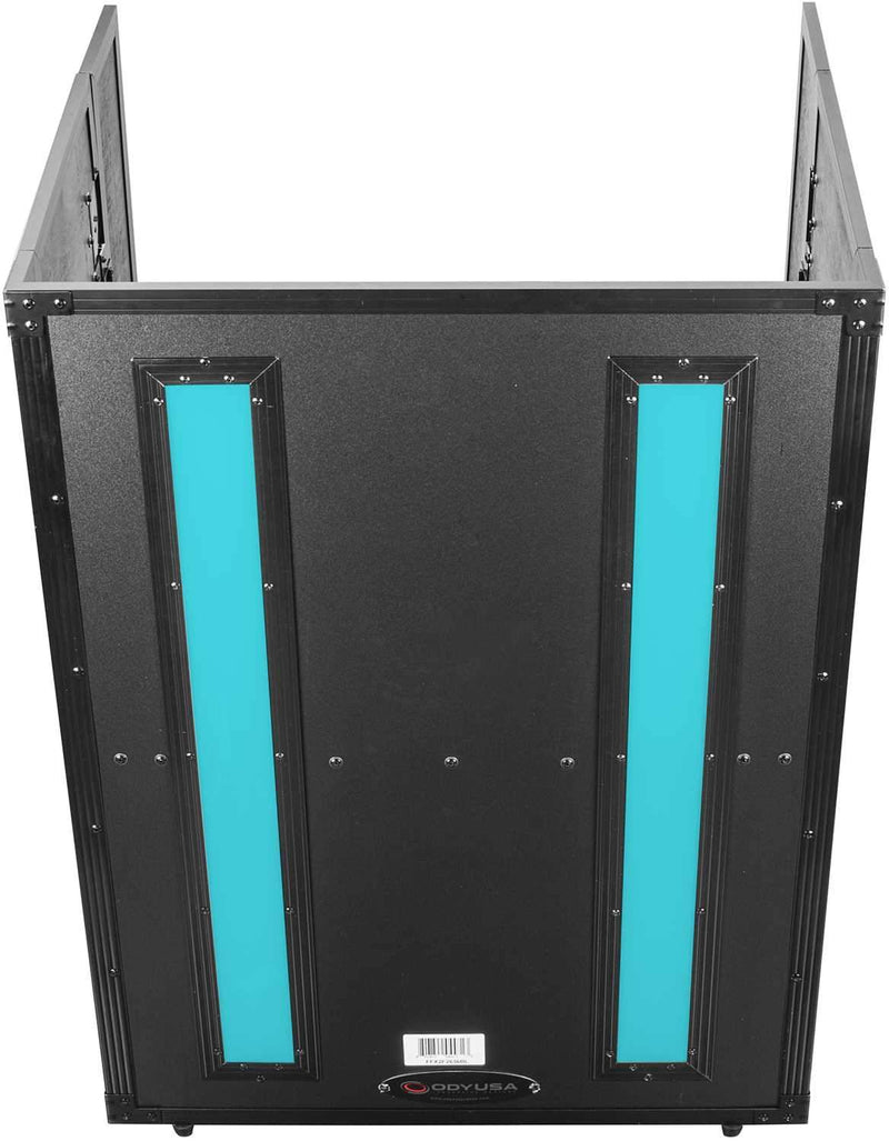 Odyssey FFX2F2636BL 26x36 Flight FX Fold-Out DJ Stand Facade - PSSL ProSound and Stage Lighting