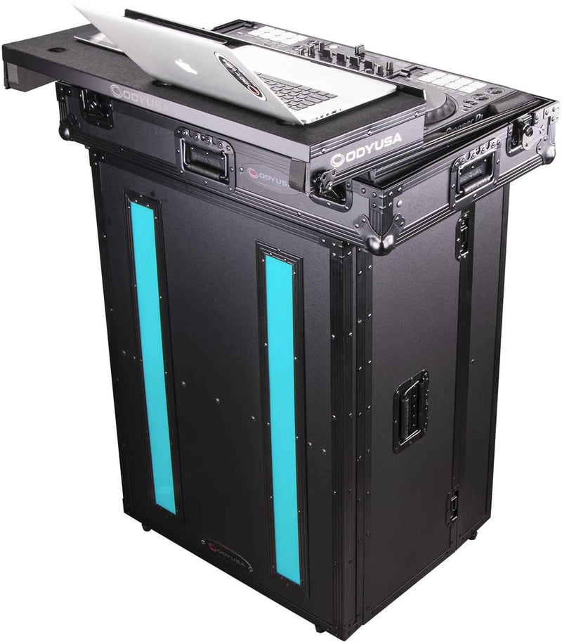 Odyssey FFX2F2636BL 26x36 Flight FX Fold-Out DJ Stand Facade - ProSound and Stage Lighting