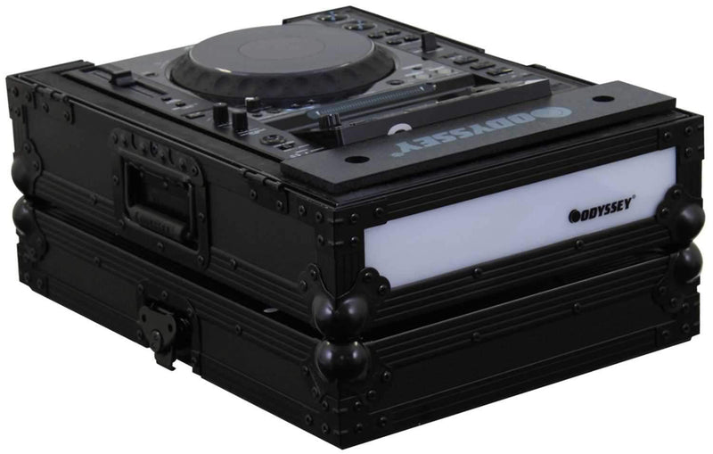 Odyssey FFX2LCDJBL Fx Twin Led Cd Player Case - PSSL ProSound and Stage Lighting
