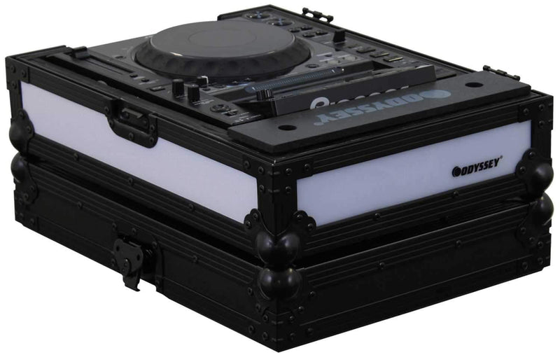 Odyssey FFX2RCDJBL Fx2 Twin Led Cd Player Case - PSSL ProSound and Stage Lighting