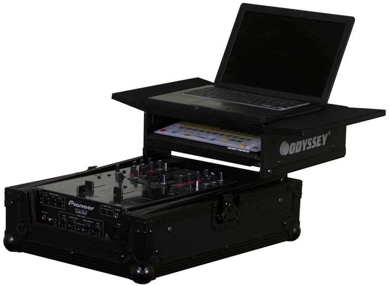 Odyssey FFXGS10MIXBL Fx 10In Mixer Led Glide Cas - ProSound and Stage Lighting