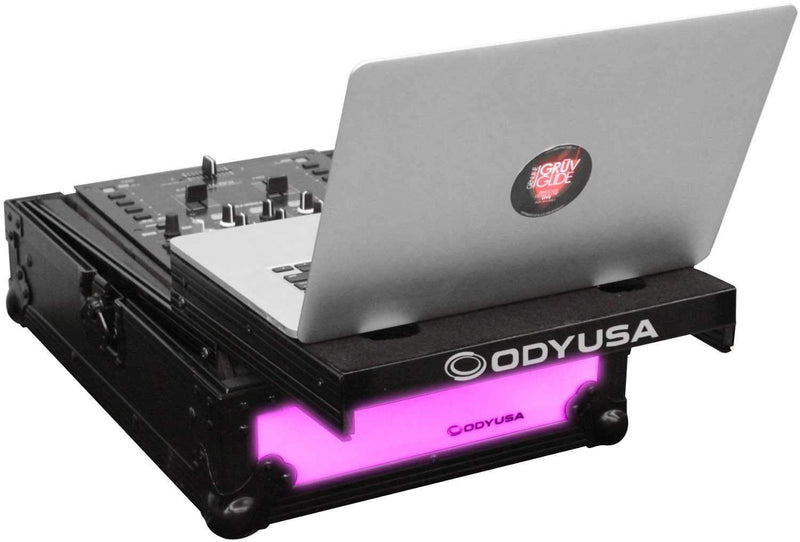 Odyssey FFXGS10MX1BL 10In Mixer Glide Case with LED - PSSL ProSound and Stage Lighting