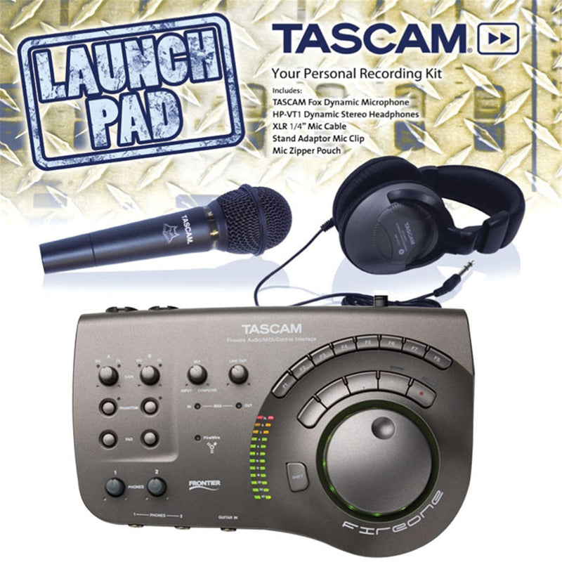 Tascam FIRE-ONE-PAK Fireone & Launchpad Rec Pack - PSSL ProSound and Stage Lighting