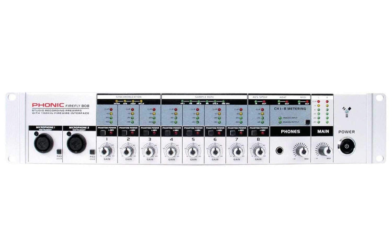 Phonic FireFLY 808 Firewire Audio Midi Interface - PSSL ProSound and Stage Lighting