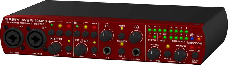 Behringer FIREPOWER FCA610 Firewire Interface - PSSL ProSound and Stage Lighting