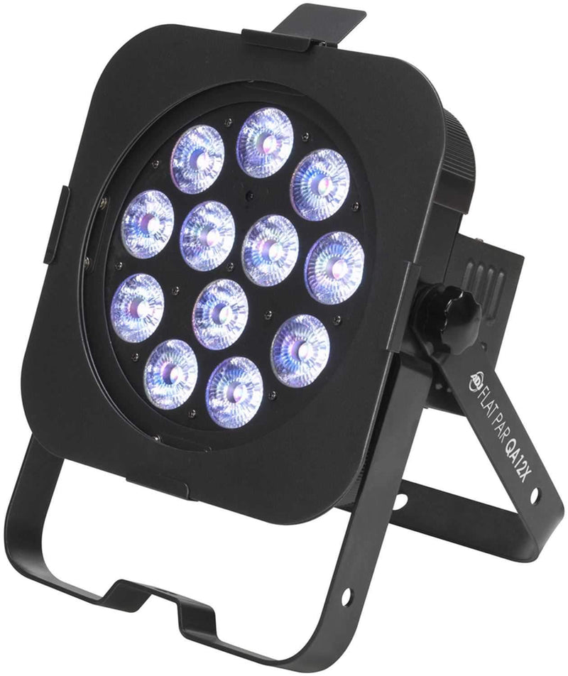 American DJ Flat Par QA12X DMX RGBA LED Wash Light - ProSound and Stage Lighting