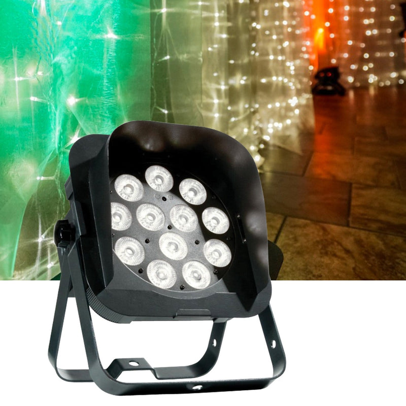 ADJ American DJ Flat Par QWH12X RGBW LED Light with Snoot - ProSound and Stage Lighting