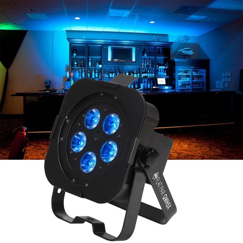 American DJ Flat Par QWH5X RGBW LED Wash Light - ProSound and Stage Lighting