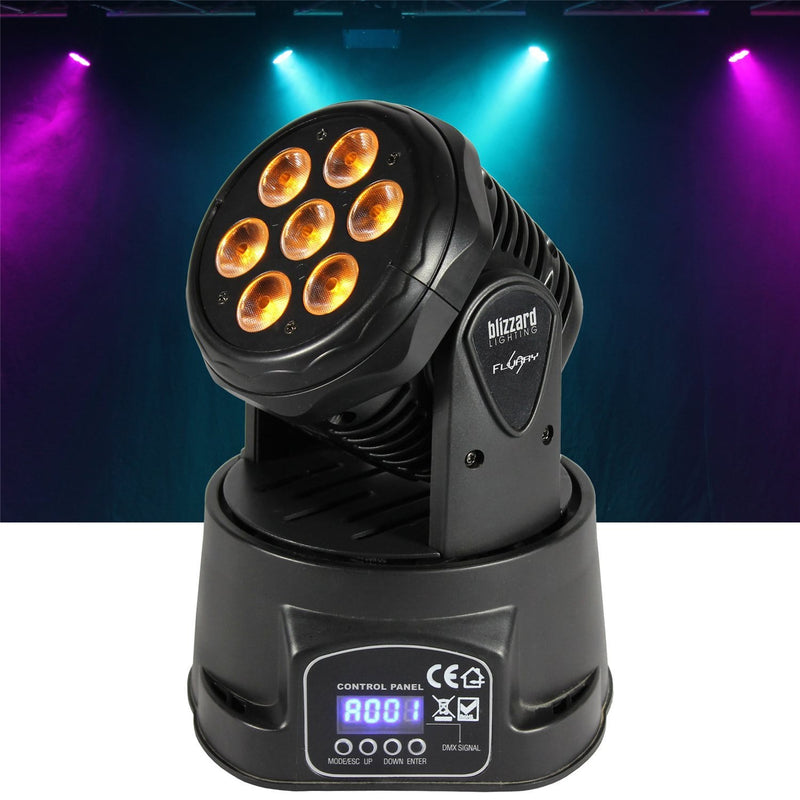 Blizzard Flurry 5 RGBAW LED Moving Head Wash Light - PSSL ProSound and Stage Lighting