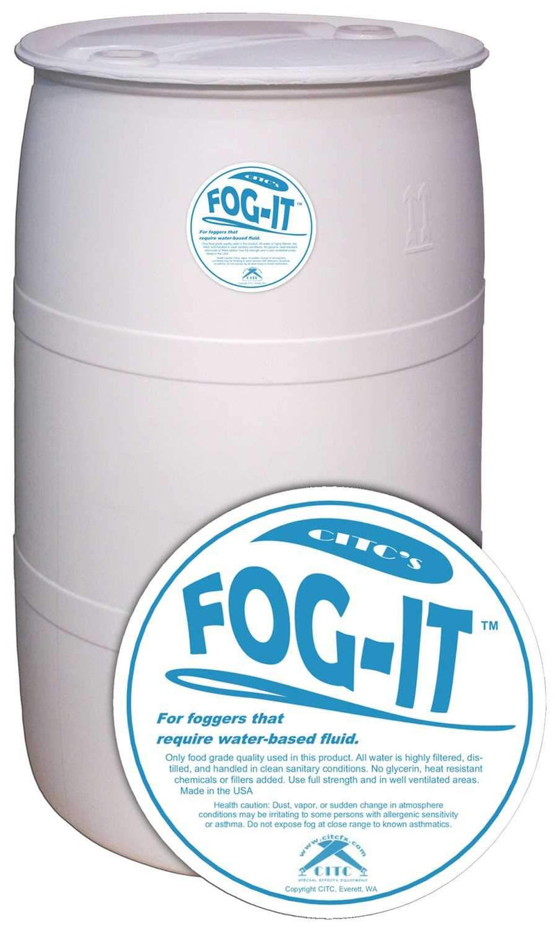 CITC Fog-IT Water Based Fog Fluid 55 Gallon Drum - ProSound and Stage Lighting