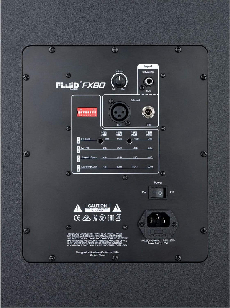 Fluid Audio FX80 8-Inch Powered Reference Monitor - PSSL ProSound and Stage Lighting