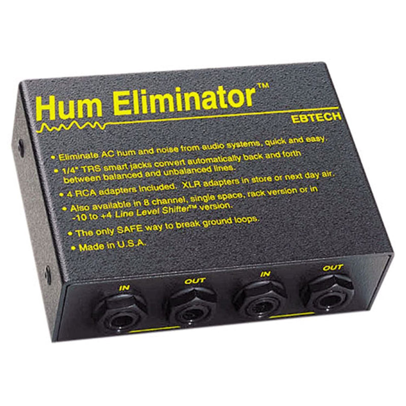 Ebtech HE-2 2-Channel Hum Eliminator - PSSL ProSound and Stage Lighting