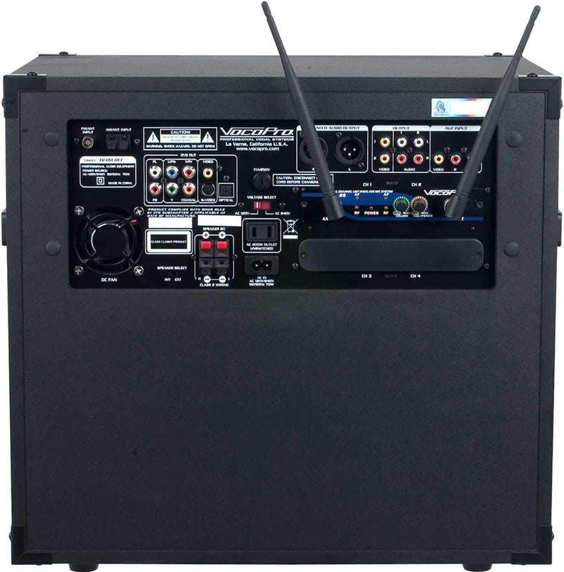 VocoPro Hero-Rec 4 Compact All-In-One Entertainment System - PSSL ProSound and Stage Lighting