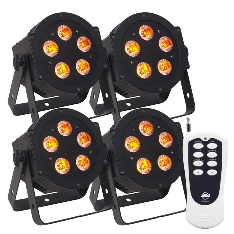 ADJ American DJ Hex Par Pak with 5P Hex LED 4-Pack & Remote - PSSL ProSound and Stage Lighting