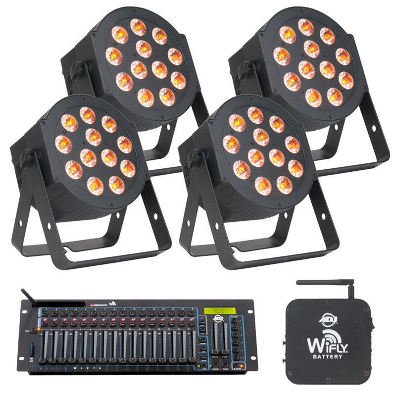 ADJ American DJ Hex Par Pro Pak with WLC16 DMX Wifly - PSSL ProSound and Stage Lighting