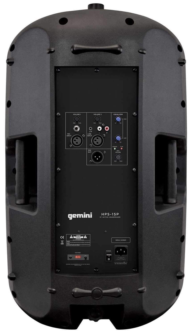 Gemini HPS 15P 15 in Powered PA Speaker 1000W - PSSL ProSound and Stage Lighting