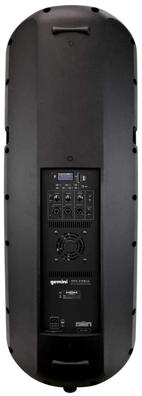 Gemini HPS 215BLU Dual 15 in Powered Speaker 200 - PSSL ProSound and Stage Lighting