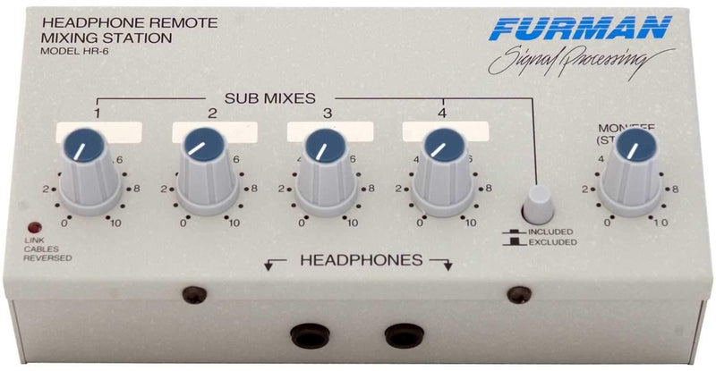 Furman HR6 Headphone Remote Station - PSSL ProSound and Stage Lighting