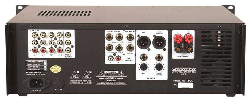 VocoPro HV-1200 High Power Vocal Amplifier - PSSL ProSound and Stage Lighting