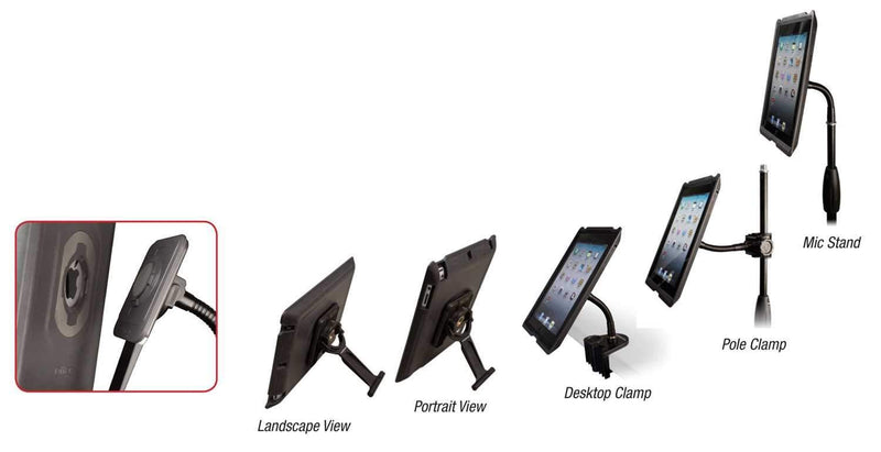 Ultimate HYP-AG-AIR HyperPad iPad Holder with Shell - PSSL ProSound and Stage Lighting
