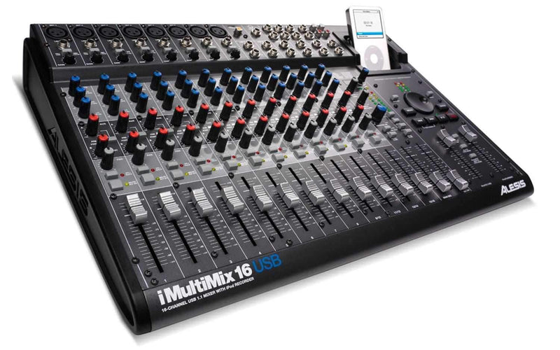 Alesis I-MULTIMIX-16USB 16-Ch iPod Audio Int/Mixer - PSSL ProSound and Stage Lighting