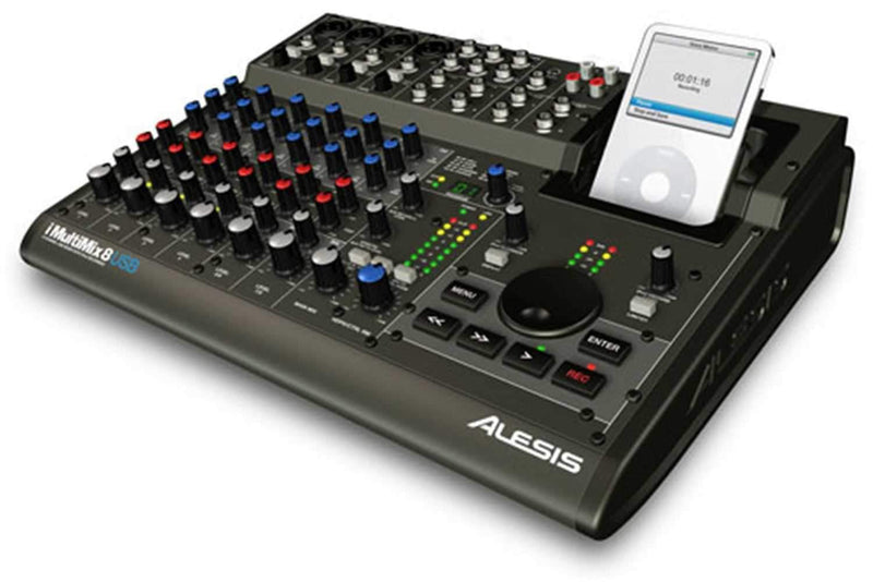 Alesis iMultimix-8USB 8Ch USB Mixer/iPod Recorder - PSSL ProSound and Stage Lighting