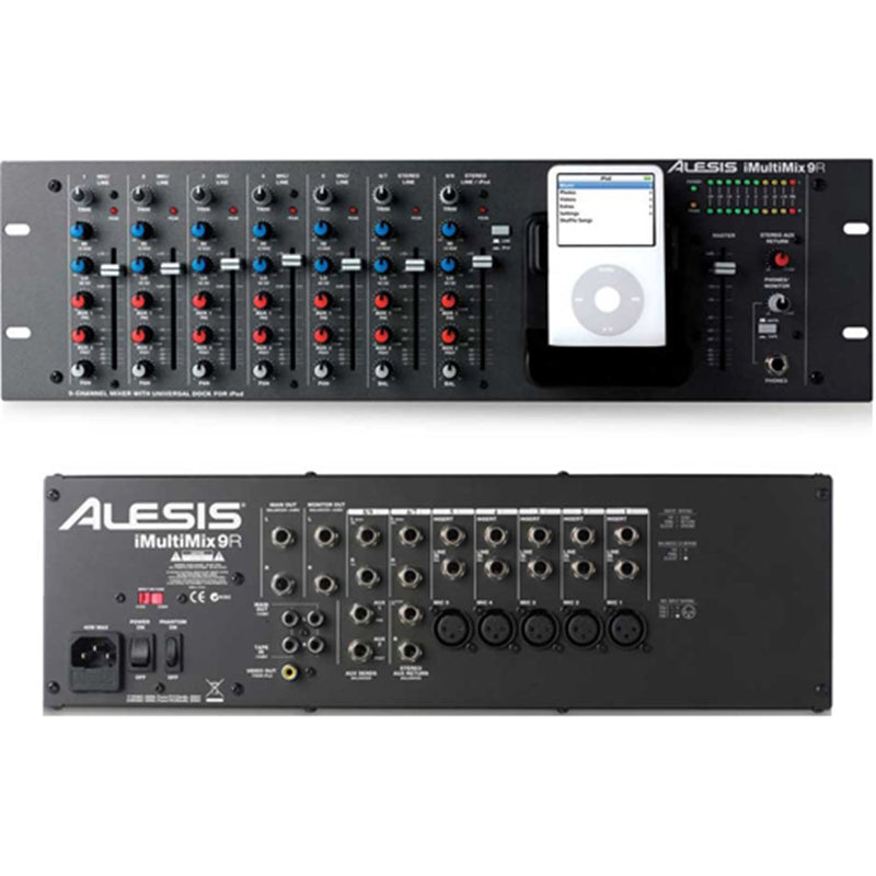 Alesis I-MULTIMIX-9R 9-Ch Rackmount Mixer for iPod - PSSL ProSound and Stage Lighting