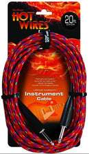 On-Stage IC20BR Hot Wires Braided Instrument Cable 20ft - PSSL ProSound and Stage Lighting