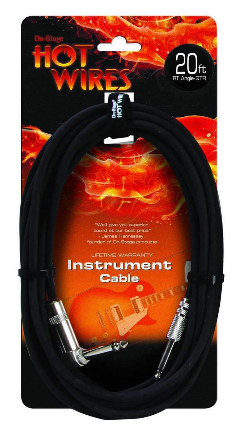 On Stage 20Ft Right Angle Instrument Cable - PSSL ProSound and Stage Lighting