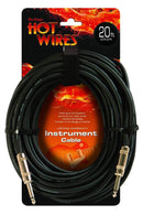 On-Stage Hot Wires IC-20 Instrument Cable 20Ft - PSSL ProSound and Stage Lighting