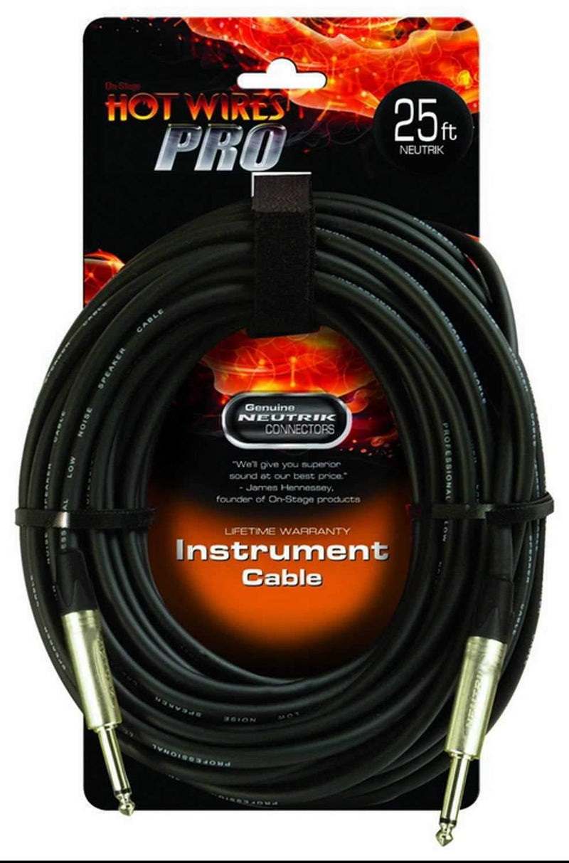 On Stage Pro Musicians Instrument Cable 25 Ft - PSSL ProSound and Stage Lighting