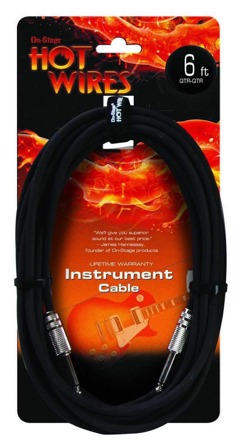 On Stage Instrument Cable 6 Ft - PSSL ProSound and Stage Lighting