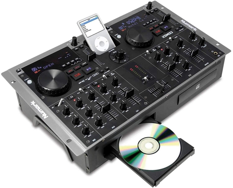 Numark ICDMIX 3 DualCD/MP3 Mixer with iPod Dock - PSSL ProSound and Stage Lighting