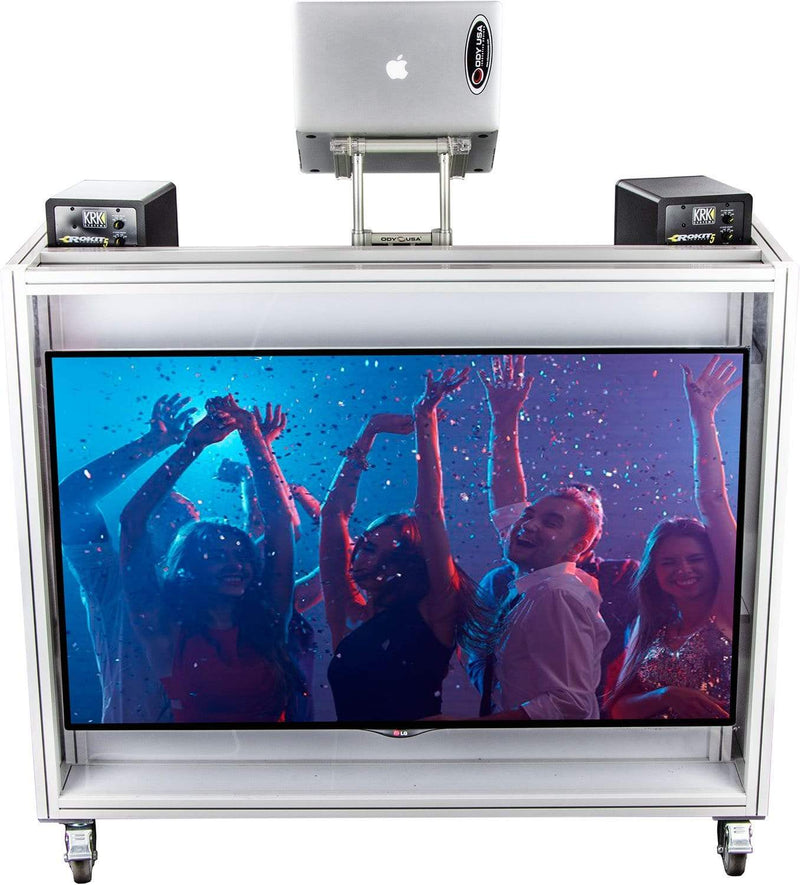 Odyssey MVDJ65W Majestic Rolling VDJ Booth 65-inch - PSSL ProSound and Stage Lighting
