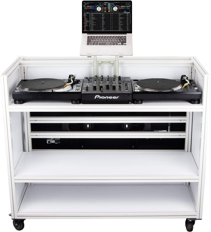 Odyssey MVDJ55W Majestic Rolling VDJ Booth 55-inch - PSSL ProSound and Stage Lighting