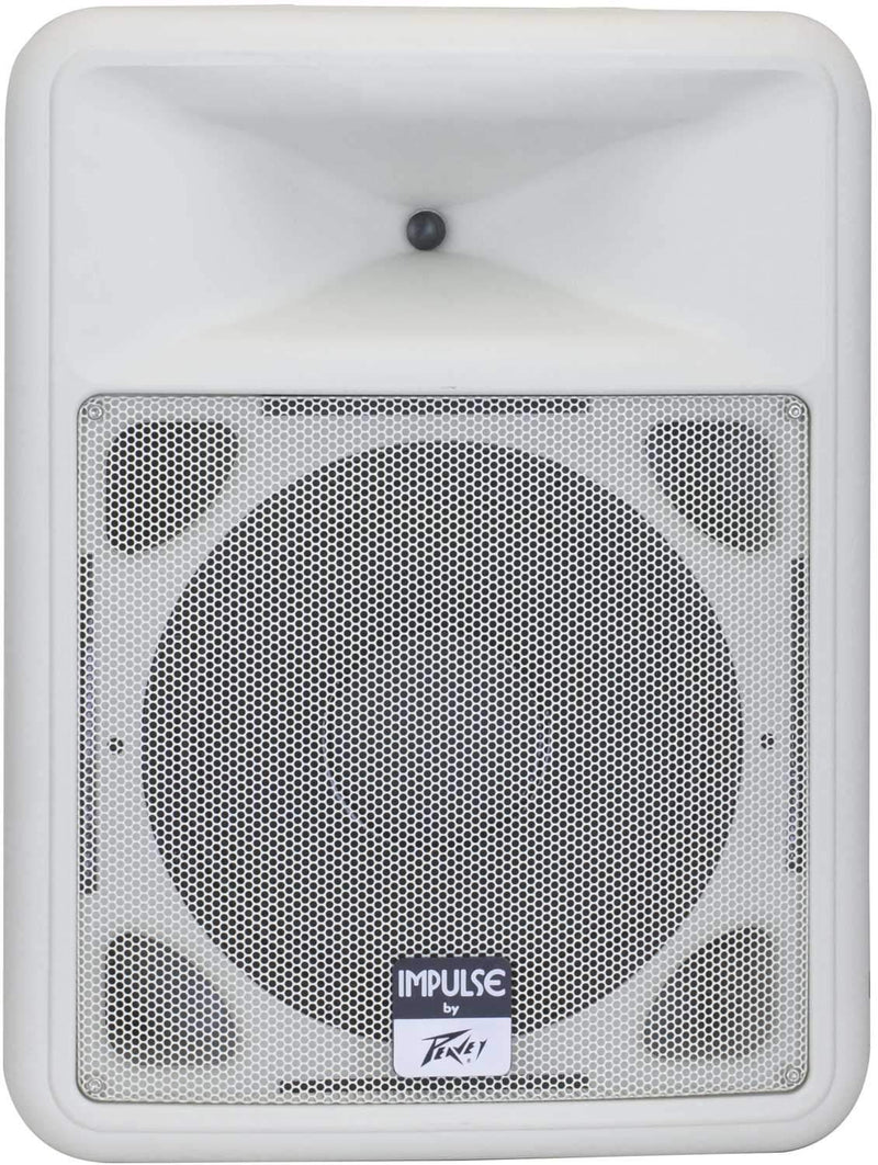 Peavey Impulse 1012 White Weather-Resistant 12-Inch Passive Speaker - PSSL ProSound and Stage Lighting